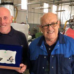 Da sinistra, Costantino Ostorero e Pierino Ostorero